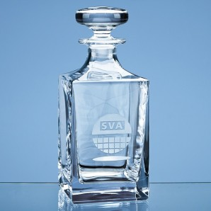 Engraved Darlington Crystal Decanter - Image 1