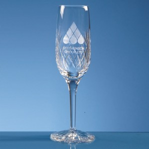 Engraved Lead Crystal Champagne Flute  - Image 1