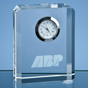 Personalised Crystal Block Clock - Image 1