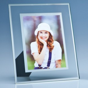 Engraved Glass Photo Frame - Image 1