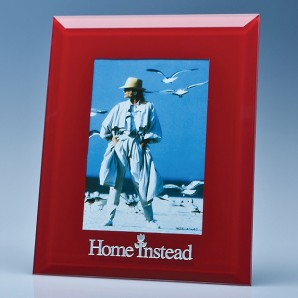 Personalised Red Glass Photo Frame - Image 1