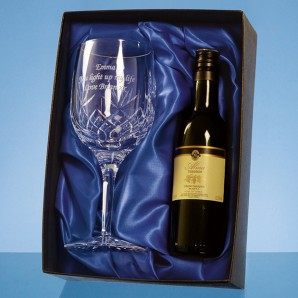 Personalised Lead Crystal Red Wine Gift Set - Image 1