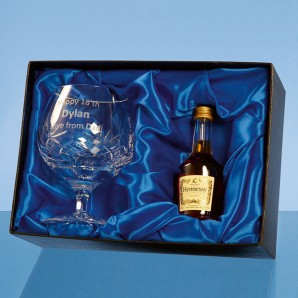 Personalised Crystal Brandy Glass Gift Set - Image 1