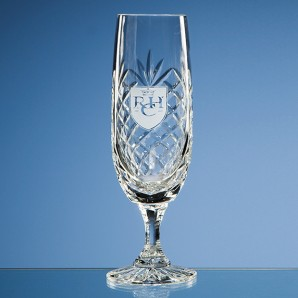 Personalised Lead Crystal Panel Champagne Flute - Image 1