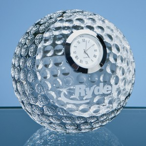 Personalised Crystal Golf Ball Clock - Image 1