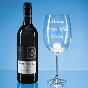 Engraved Giant Sized Wine Glass  - Image 1