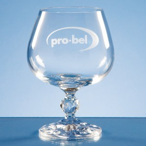 Engraved Traditional Crystal Brandy Glass - Image 1