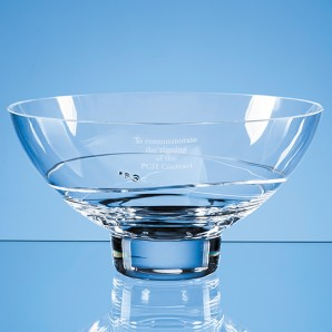 Crystal Diamante Oval Bowl With Spiral Design - Image 1