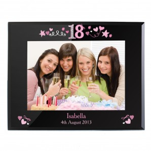 Personalised 18th Birthday Glass Photo Frame - Image 1