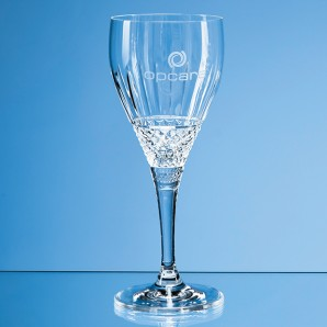 Personalised Crystal Cut Wine Glass - Image 1