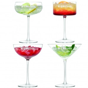 Personalised Cocktail Set Of 4 - Image 1