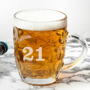 Personalised Birthday Dimpled Beer Tankard - Image 1