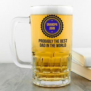 Personalised Probably The Best Beer Glass Tankard - Image 1