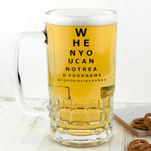 Personalised Opticians Chart Beer Glass Tankard - Image 1