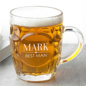 Personalised Dimpled Beer Glass - Image 1