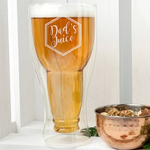 Personalised Bottoms Up Beer Glass - Image 1