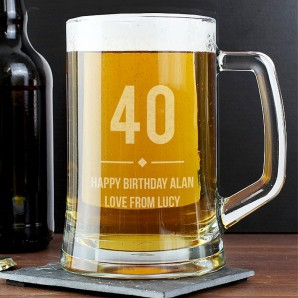 Personalised Age Glass Pint Tankard - Image 1