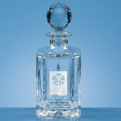 Crystal Square Panel Classic Decanter