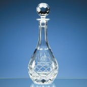 Engraved Crystal Droplet Decanter