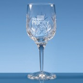 Personalised Lead Crystal Panel Wine Glass
