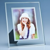 Engraved Glass Photo Frame