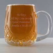 Personalised Lead Crystal Round Barrel Tankard