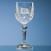 Personalised Flamenco Crystal Wine Glass