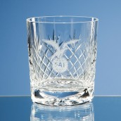 Personalised Lead Crystal Panel Whiskey Glass