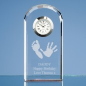 Personalised Handprint Crystal Clock