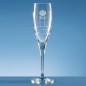 Personalised Orbital Crystal Champagne Flute