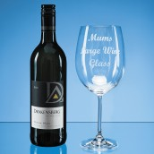 Engraved Giant Sized Wine Glass