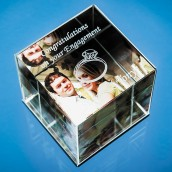 Personalised Crystal Cube Photo Frame