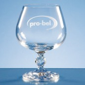 Engraved Traditional Crystal Brandy Glass