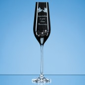 Personalised Black Swirl Crystal Champagne Flute
