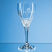 Personalised Crystal Cut Wine Glass