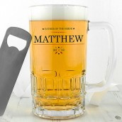 Personalised Ornamental Glass Tankard