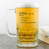 Personalised Definition Glass Beer Tankard