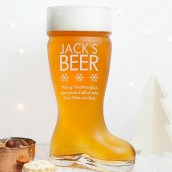 Personalised Boot Beer Glass